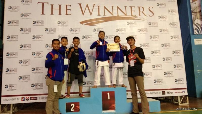 Atlet Inkanas Polres Pesawaran Sabet 3 Medali di Turnamen Karate Nasional