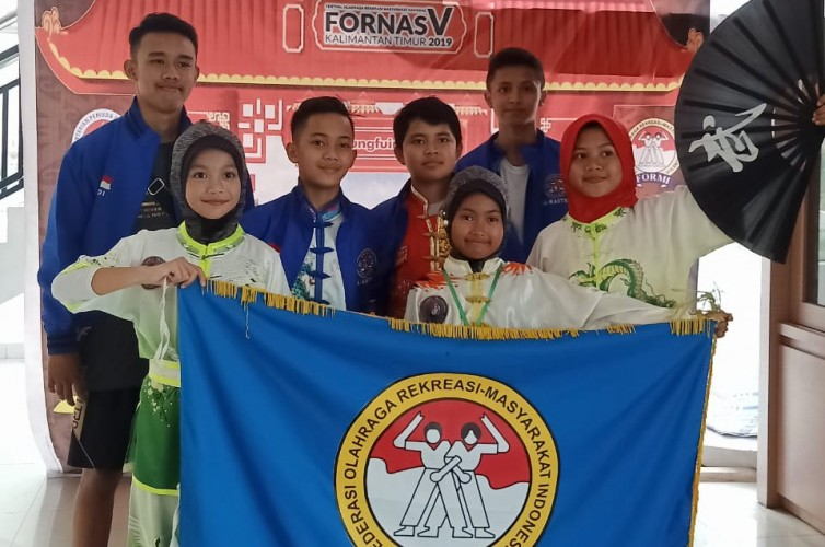 Atlet Kungfu Lampung Berjaya di Fornas V Samarinda