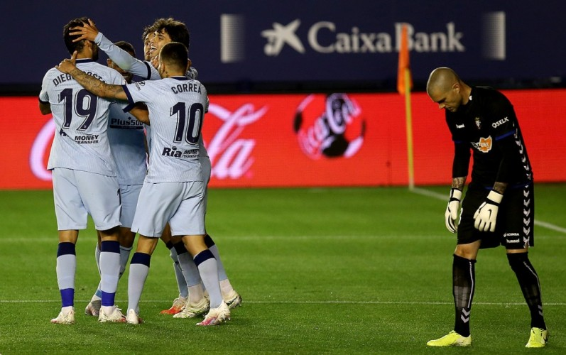 Atletico Madrid Gilas Osasuna 5-0