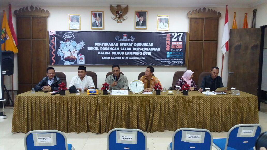 Tak Ada Calon Perseorangan di Pilgub Lampung