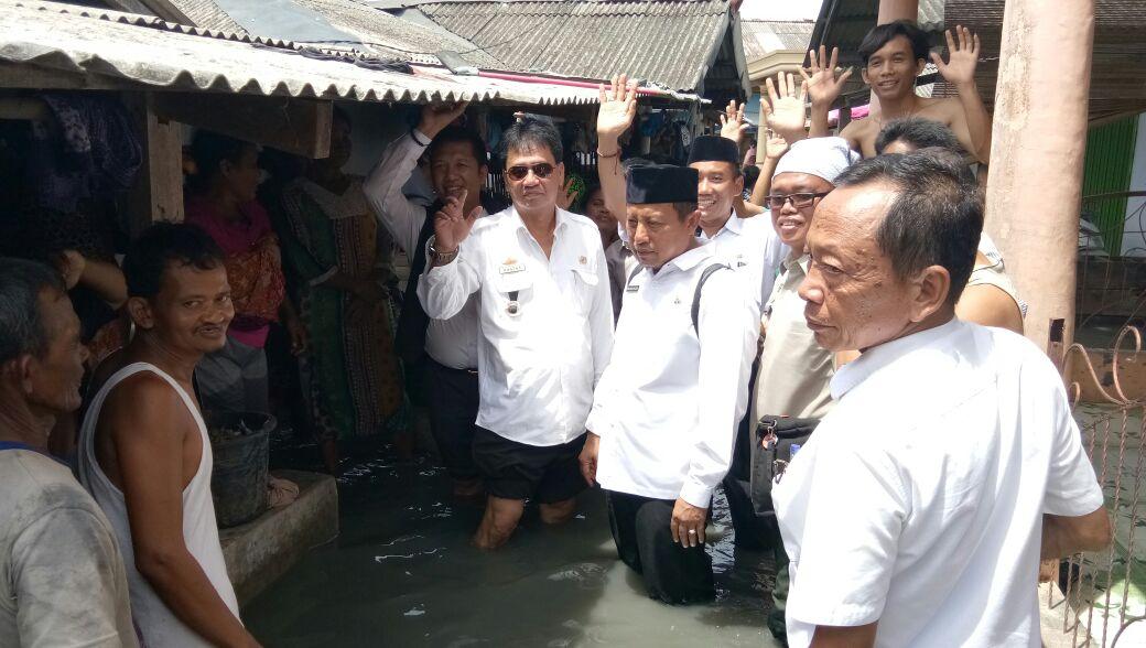 Ratusan Rumah Warga Kualajaya, Sragi Terendam Banjir Rob
