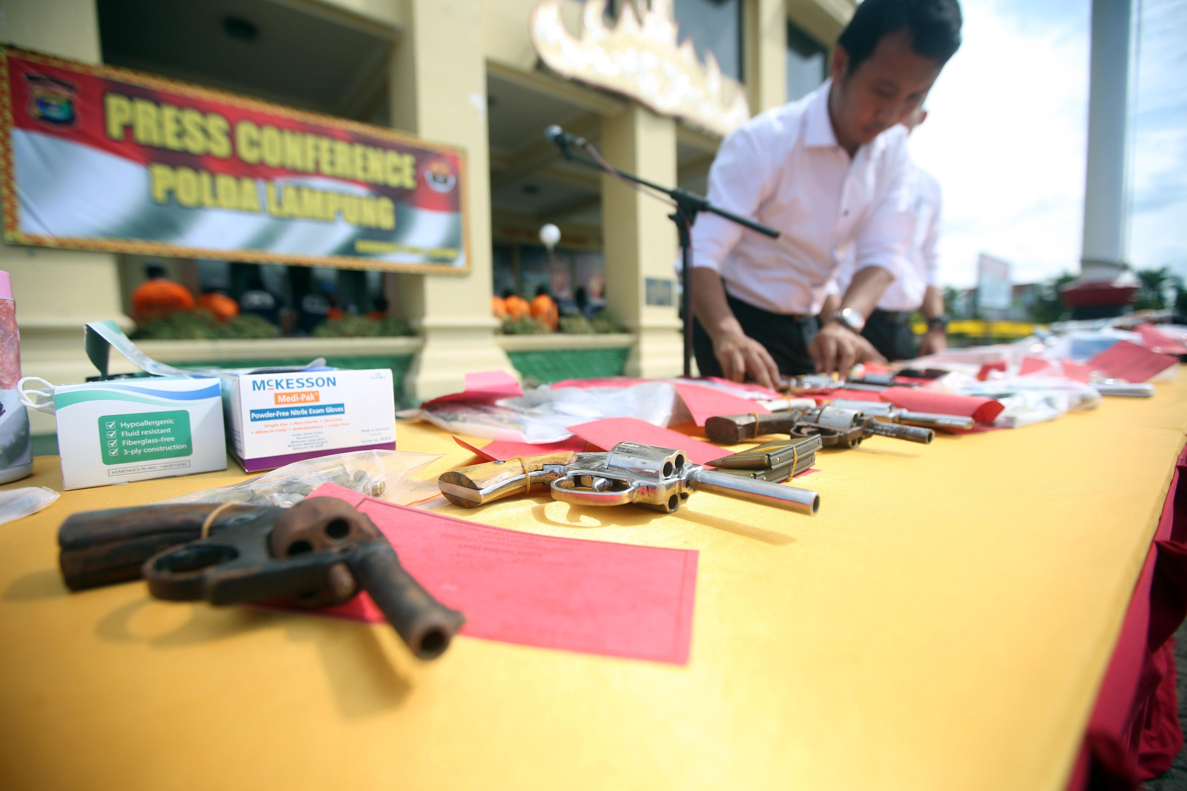 Jelang Natal-Tahun Baru, Polda Lampung Tangkapi Preman