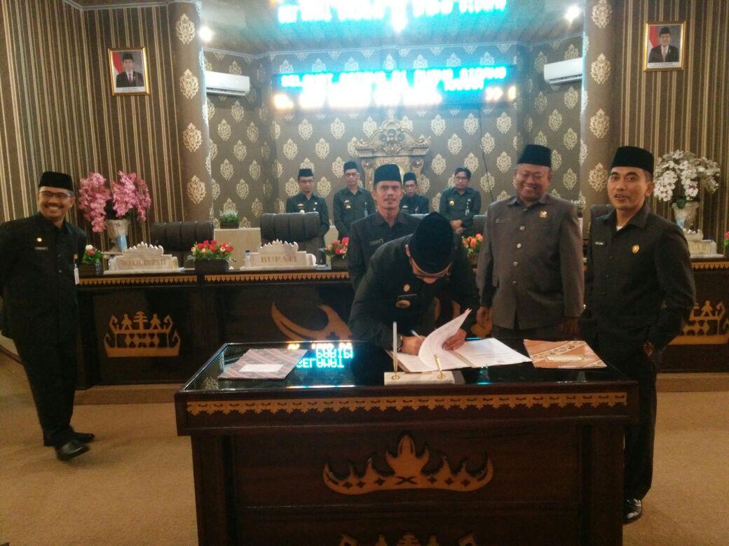 DPRD Way Kanan Gelar Rapat Paripurna Pengesahan Rancangan KUA-PPAS