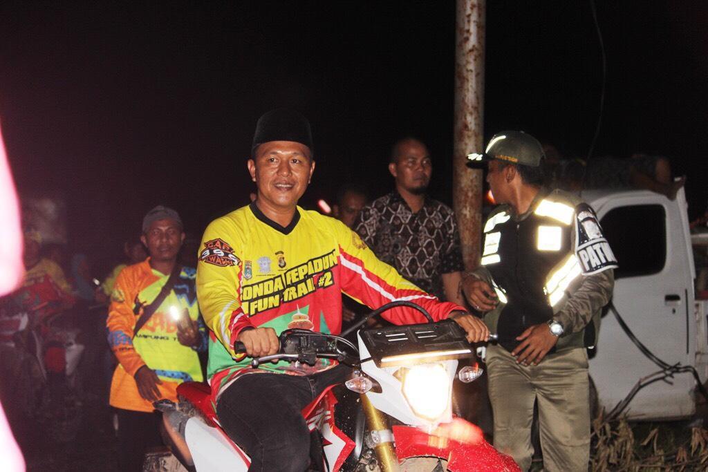 Mustafa Gelorakan Ronda pada Ribuan Peserta Pepadun Trail