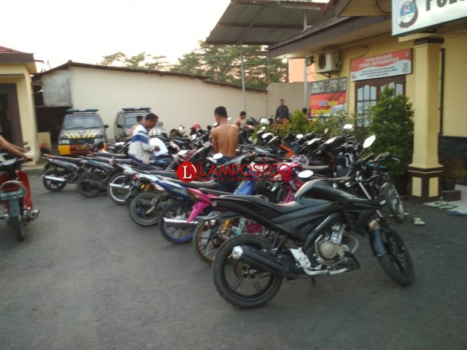 Balap Liar di Sukarame, 40 Motor Diamankan