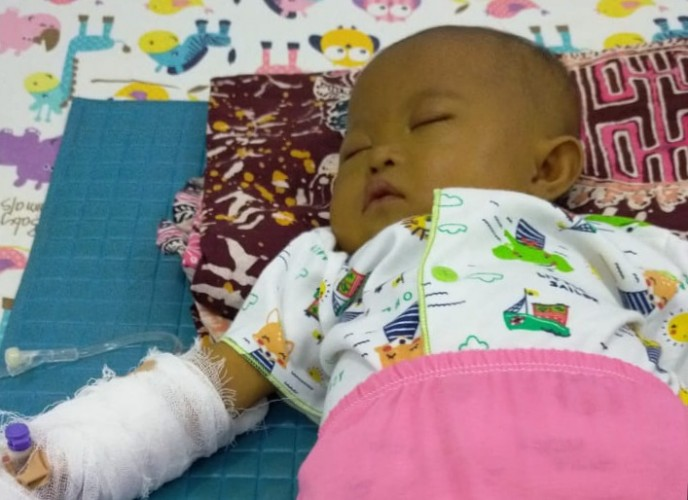 Bayi Idap Kelainan Jantung dan Gagal Hati di Tanggamus Butuh Bantuan