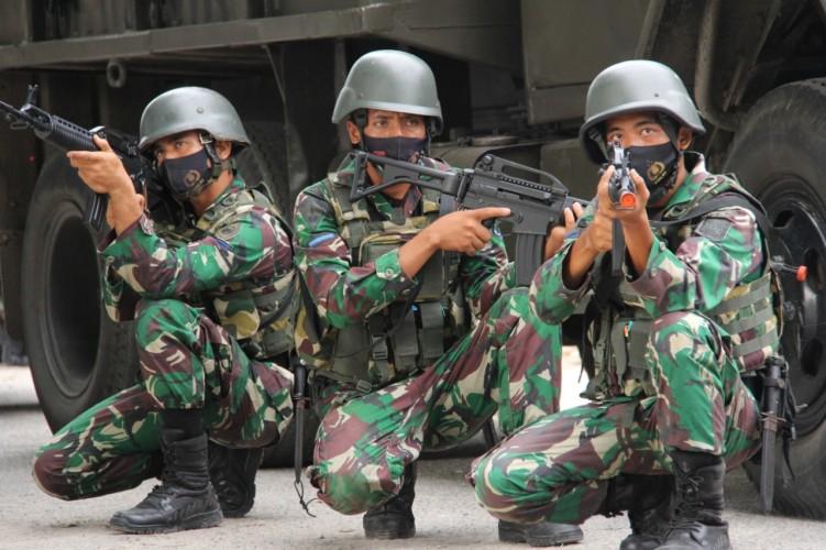 Bandar Lampung Dikagetkan dengan Ledakan dan Baku Tembak Pasukan Marinir