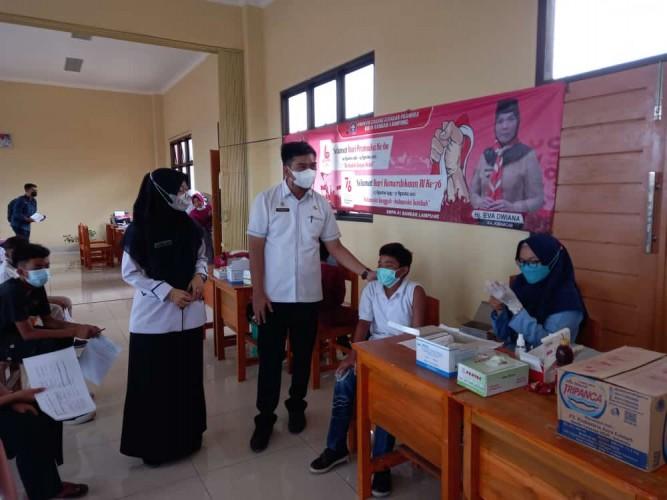Bandar Lampung Kebut Vaksinasi Pelajar SMP