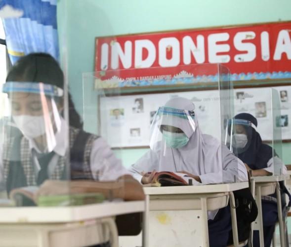 Bandar Lampung Mulai Buka PTM Bagi Kelas 8 SMP dan 5 SD