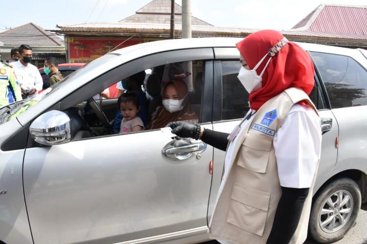 Lima Titik Penyekatan PPKM Darurat Bandar Lampung