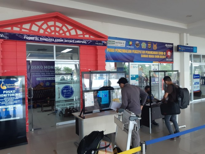 Bandara Radin Intan II Alami Penurunan Penumpang
