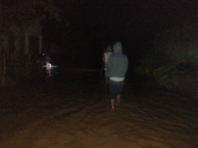 Banjir Bandang Terjang Desa Bagelen Pesawaran