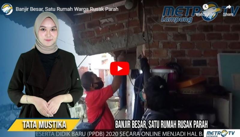 Banjir Besar, Satu Rumah Warga Rusak Parah
