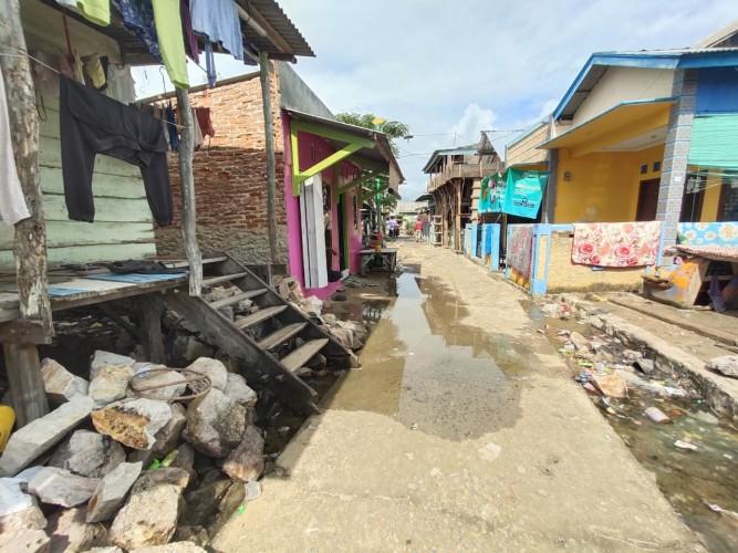 Banjir Rob Kotakarang Tidak Setinggi Sebelumnya