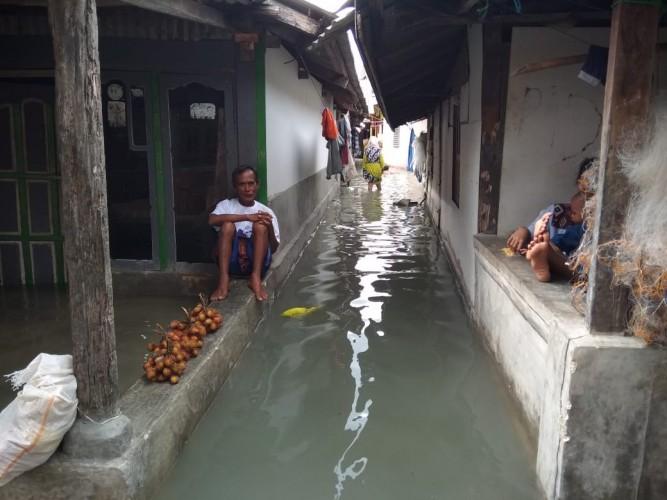 Banjir Rob Rendam 50 Rumah Warga Kualajaya