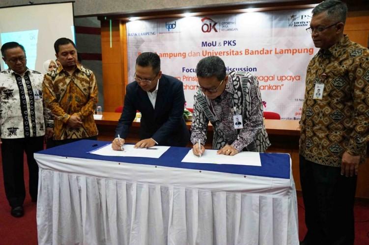 Bank Lampung Dukung Peningkatan SDM