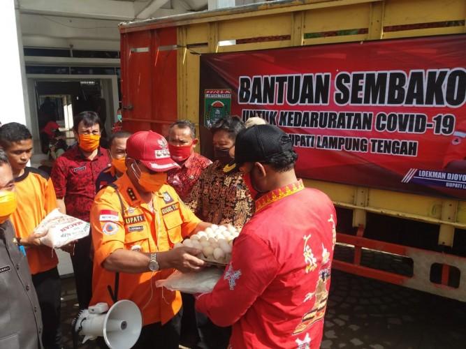 Bansos untuk Warga Terdampak Covid-19 di Lamteng Mulai Disalurkan