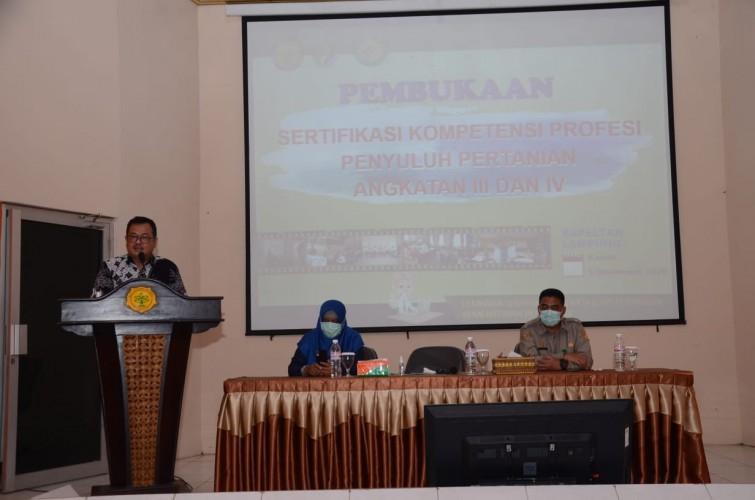 Bapeltan Lampung Dorong Sertifikasi Calon ASN PPPK Penyuluh Pertanian