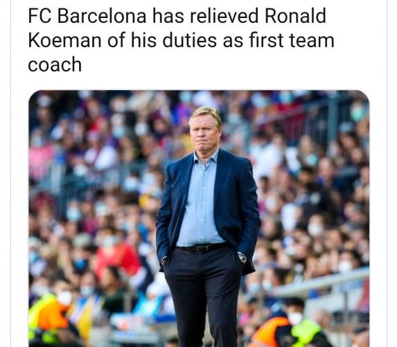 Barcelona Resmi Pecat Ronald Koeman