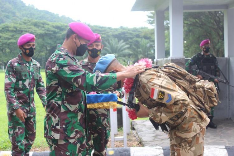 Batalyon 9 Marinir Sambut Kepulangan Prajurit dari Lebanon