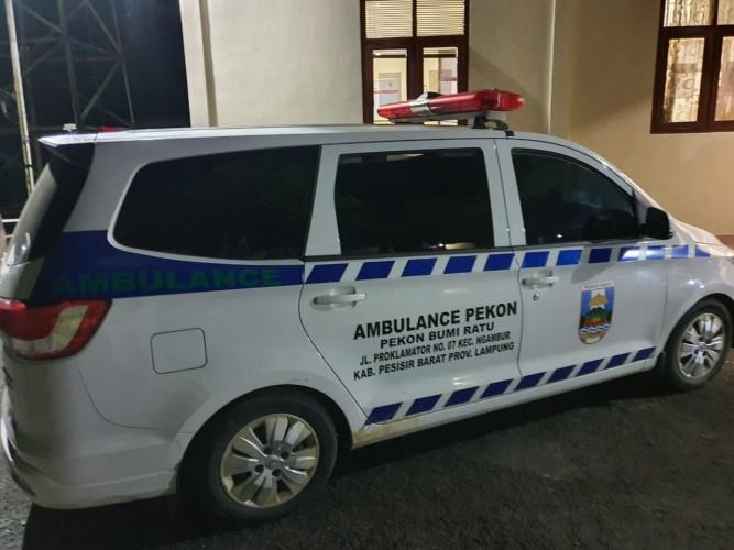 Bawa Meteran Listrik, Ambulans Pekon Bumiratu Diamankan