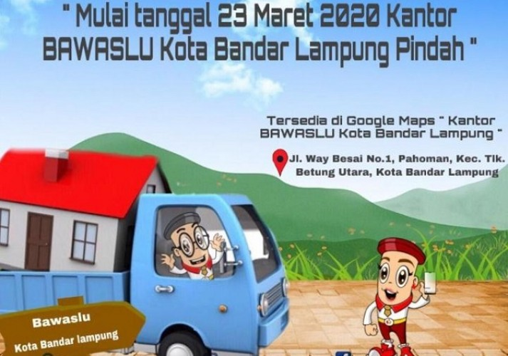 Bawaslu Bandar Lampung Beroperasi di Kantor Baru