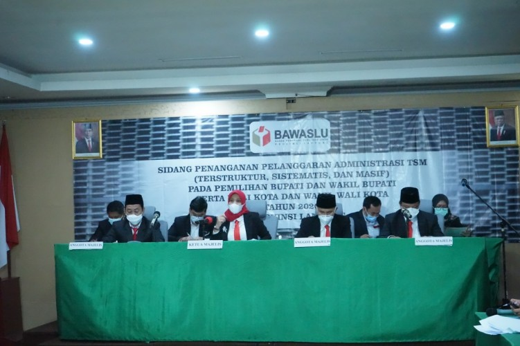 Bawaslu Dengar Penjabaran Pelapor Dugaan Politik Uang di Pilkada di Bandar Lampung dan Lamteng