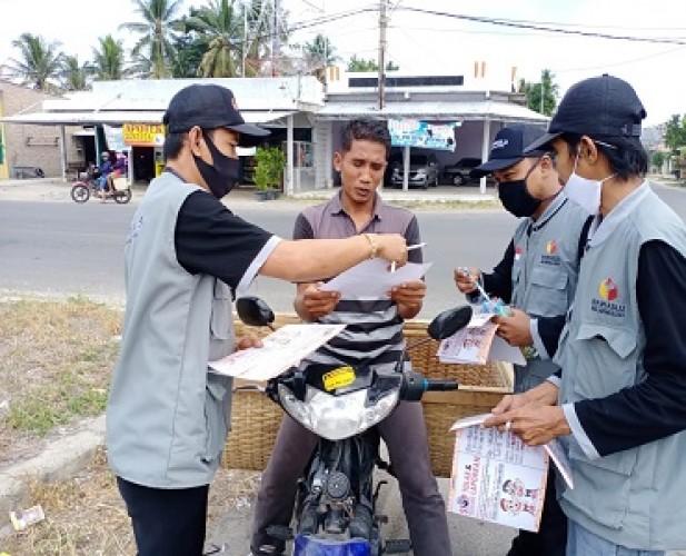 Bawaslu Lamsel Turun ke Jalan Dorong Partisipasi Masyarakat