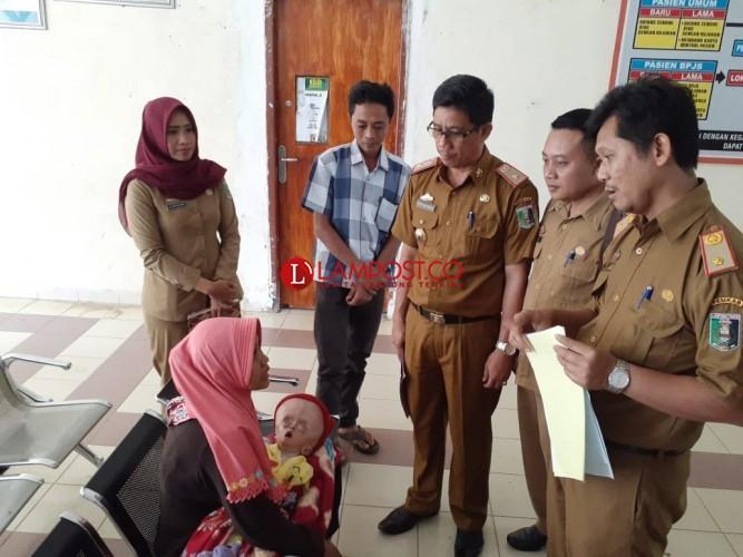 Bayi Penderita Hydrosefalus Dirujuk Ke RSUDAM Bandar Lampung