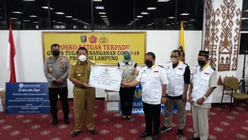Baznas Lampung Salurkan Bantuan Peduli Covid-19
