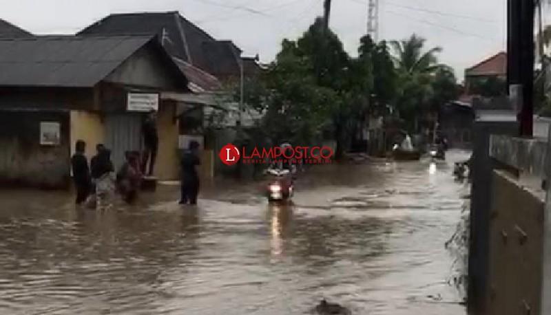 Belasan Rumah di Way Dadi Baru Terendam Banjir