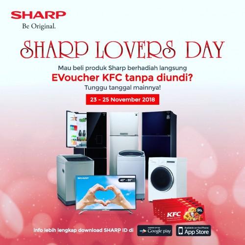 Beli TV dan Mesin Cuci Sharp Gratis Voucer KFC