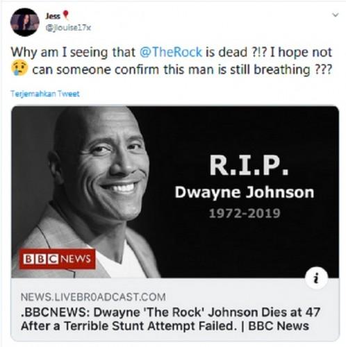 Benarkah Aktor 'The Rock' Meninggal saat Syuting? Ini Faktanya
