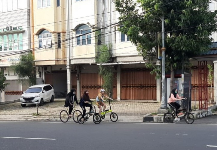 Bersepeda Pilihan Olahraga Warga Bandar Lampung di Akhir Pekan