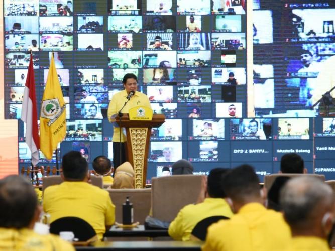Bidik Pemilu 2024, Airlangga: Kader Harus Kerja!