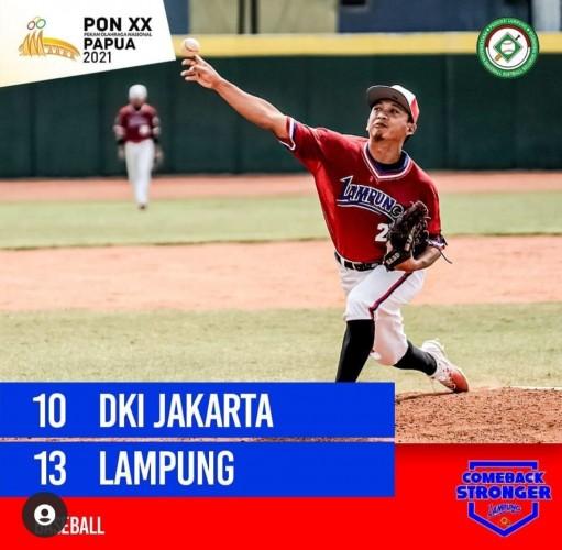 Bisbol Lampung Taklukkan DKI Jakarta di PON Papua
