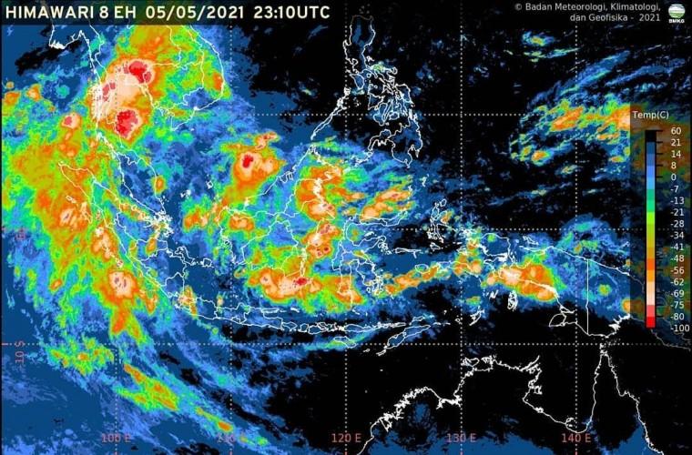 BMKG Perkirakan Lampung Diguyur Hujan saat Lebaran