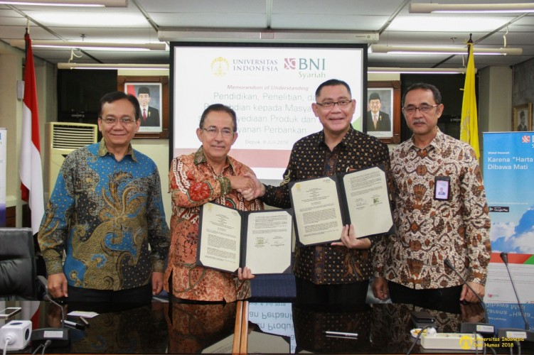 BNI Syariah-Universitas Indonesia Jalin Kerja Sama