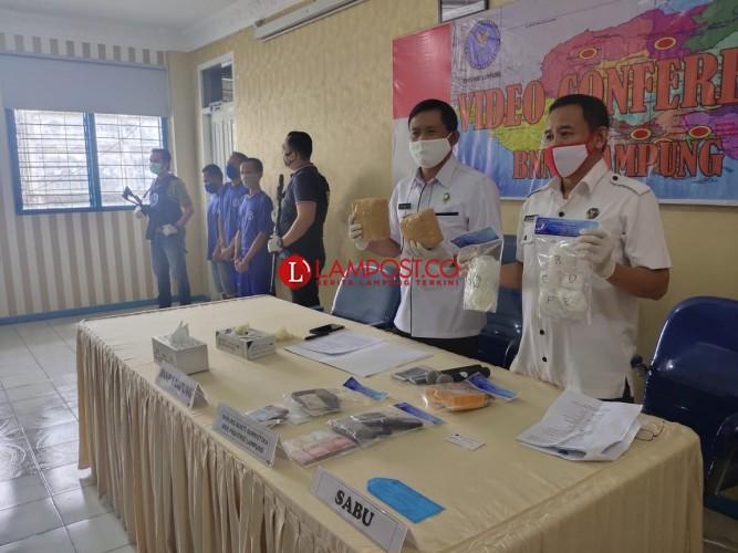 BNN Lampung Amankan 3 Kurir dan 2,86 Kg Sabu dalam Sebulan