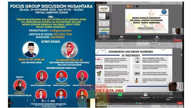 BNNP Lampung Kampanye Antinarkoba ke Milenial