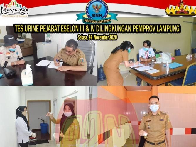 BNNP Tes Urine Bertahap Pejabat Eselon Pemprov Lampung
