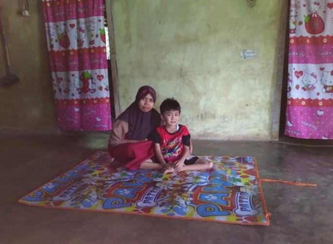 Bocah Penderita Lumpuh di Sungkai Jaya Harapkan Bantuan