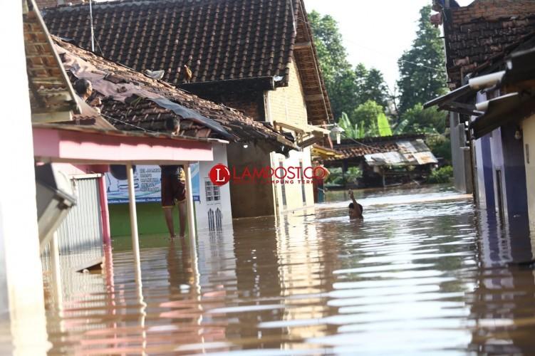 BPBD Data Kerugian Materiel Banjirdi Bandar Lampung