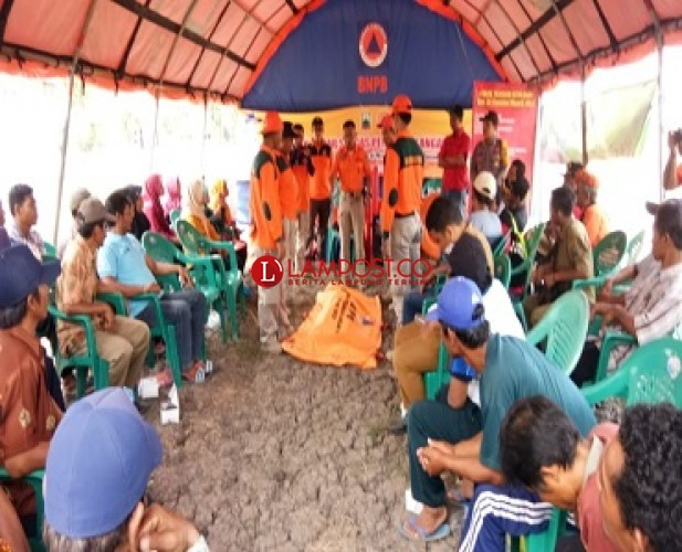 BPBD Lamsel Latih Desa Hadapi Bencana