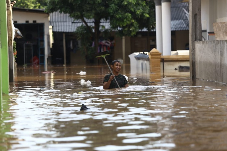 BPBD Telusuri PenyebabBanjir di Bandar Lampung