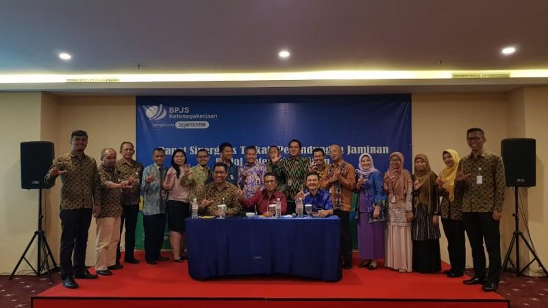 BPJamsostek Bandar Lampung-BPS Lampung Rapat Sinergitas Pemberian Jaminan Sosial ke Petugas Sensus