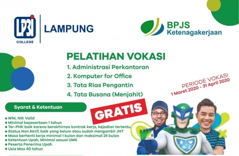 BPJamsostek Bandar Lampung Buka Vokasi Bagi Karyawan Yang Mengalami PHK