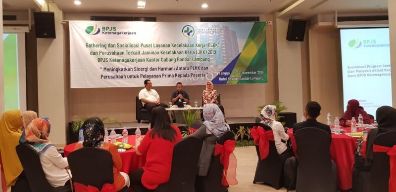 BPJamsostek Bandar Lampung Gelar Gathering dan Sosialisasi PLKK