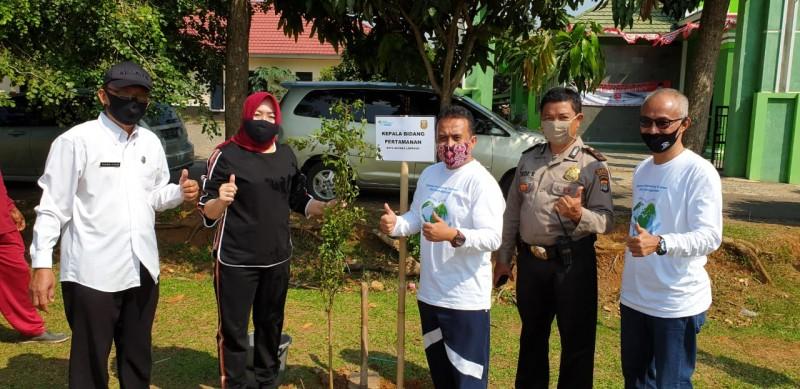 BPJamsostek Bandar Lampung Gelar Penanaman Pohon di Lapangan Kalpataru