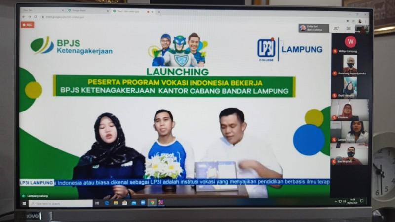 BPJamsostek Bandar Lampung Gelar Vokasi Pekerja Secara Online di Tengah Pandemi Covid-19